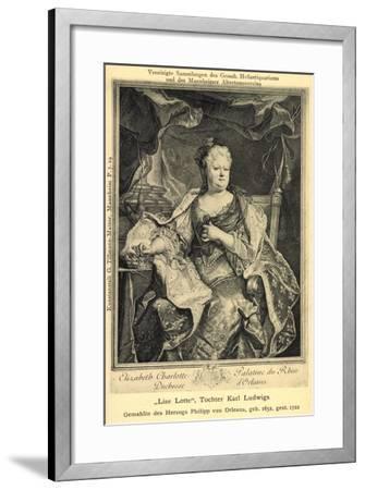 Künstler Mannheim, Lise Lotte, Tochter Karl Ludwigs--Framed Giclee Print