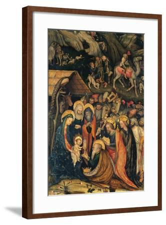 Journey and Adoration of Magi--Framed Giclee Print