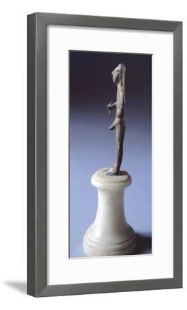 Bronze Statue Depicting Armed Figure Making Offering, Side View, 625-600 BC--Framed Giclee Print