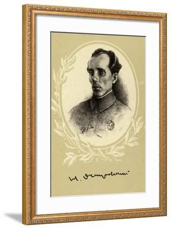 Nikolai Ostrovsky, Russian Author--Framed Giclee Print