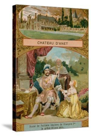 Chateau D'Anet--Stretched Canvas Print