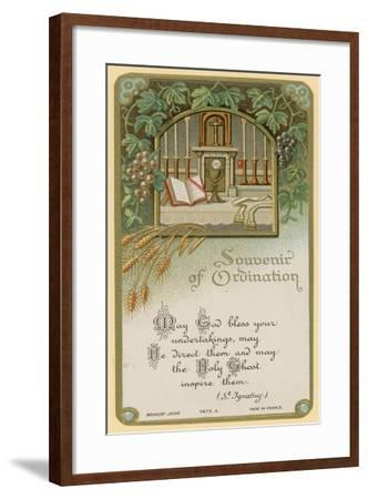 Souvenir of Ordination--Framed Giclee Print