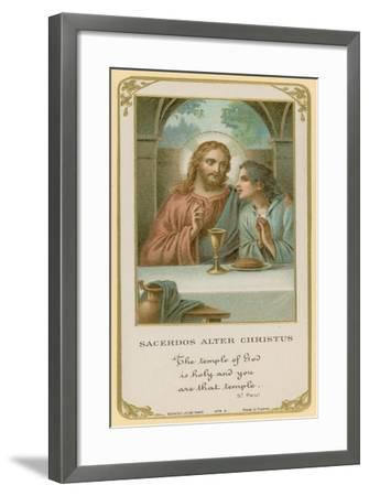 Sacerdos Alter Christus--Framed Giclee Print