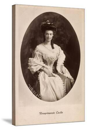 Passepartout Kronprinzessin Cecilie, Kleid, Npg 4652--Stretched Canvas Print