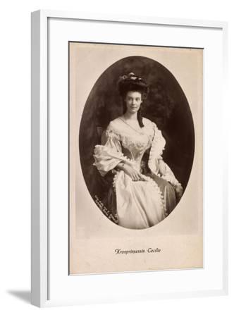 Passepartout Kronprinzessin Cecilie, Kleid, Npg 4652--Framed Giclee Print