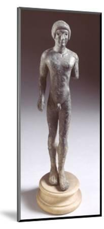 Bronze Statuette Depicting a Kouros, Front View, 480-460 BC--Mounted Giclee Print