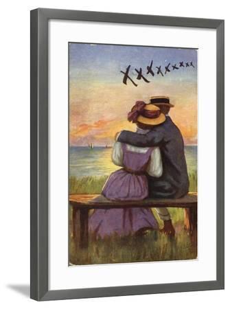 Kisses--Framed Giclee Print