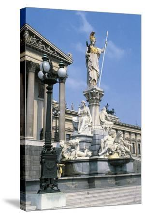 Pallas Athena Fountain--Stretched Canvas Print