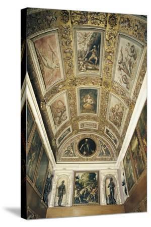 Ceiling Detail, Studiolo of Francesco I--Stretched Canvas Print