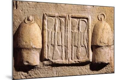 Relief Representing Surgical Instruments, from Asklepeion at Athens B.C.--Mounted Giclee Print