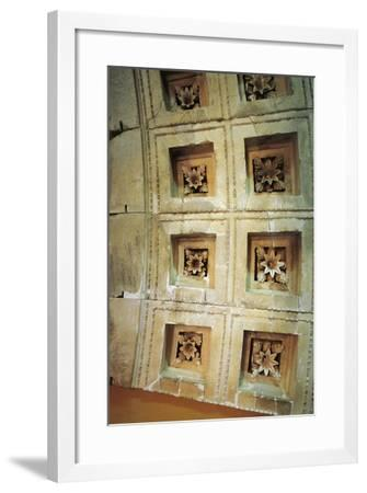 Coffered Ceiling of Tholos at Epidaurus, Greece--Framed Giclee Print