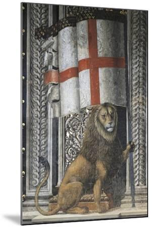 Lion Holding Up Coat of Arms--Mounted Giclee Print