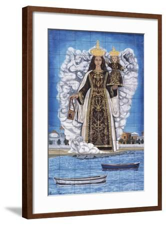 Madonna and Child, Painted Pottery--Framed Giclee Print