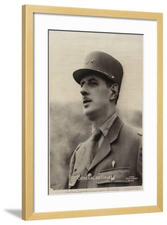 Charles De Gaulle--Framed Photographic Print