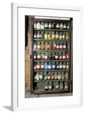 Production of Colour Pigments--Framed Photographic Print