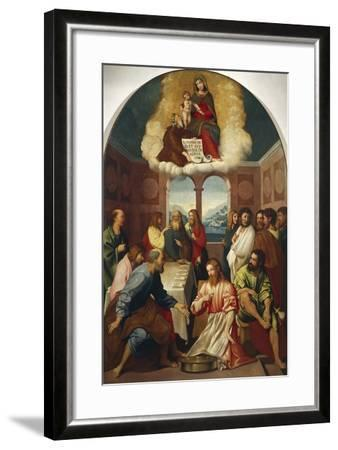 The Washing of Feet--Framed Giclee Print