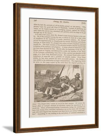 """The Bright Side, Published in """"Our Young Folks,"""" July 1, 1866--Framed Giclee Print"""