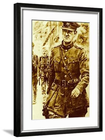 Michael Collins, Leader of the Rebels in the Easter Uprising in Ireland, 1916--Framed Giclee Print