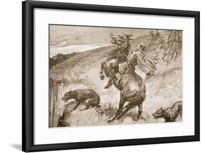 The Escape of King Edmund--Framed Giclee Print