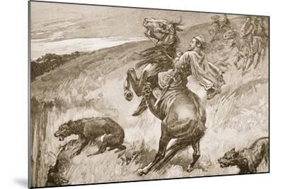 The Escape of King Edmund--Mounted Giclee Print