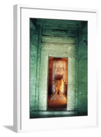 Egypt, Amarna, Tell El-Amarna, Necropolis, Tomb of Dignitary Ahmose, Niche with Statue--Framed Giclee Print