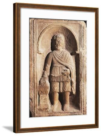 Muzio Scaevola with His Hand Alight, Artifact Uncovered in Intercisa the Ancient Centre of Hungary--Framed Giclee Print