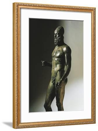 The Elder Statue, from Riace Marina, Calabria, Italy--Framed Giclee Print