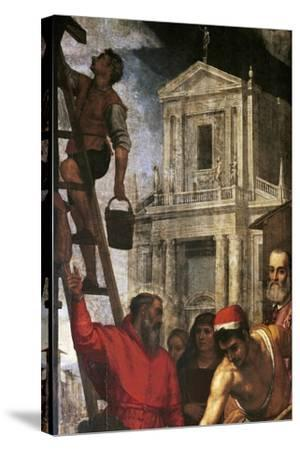 Construction of Church--Stretched Canvas Print