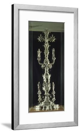 Partly Enamelled Silver Cross for the Altar of Florence Baptistery--Framed Giclee Print