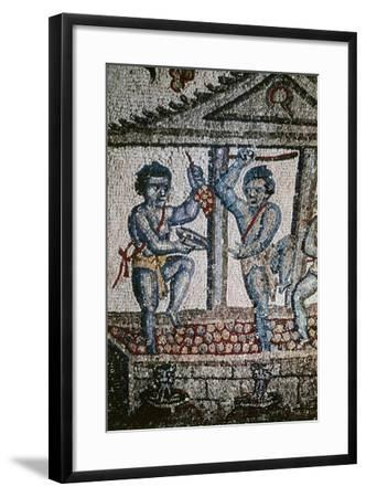 Cupids Treading Grapes, Mosaic Detail from Vault of Ambulatory--Framed Giclee Print
