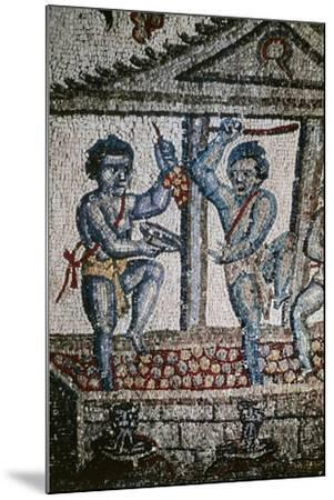 Cupids Treading Grapes, Mosaic Detail from Vault of Ambulatory--Mounted Giclee Print