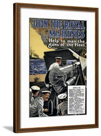 """""""Join the Royal Marines"""", 1915--Framed Giclee Print"""
