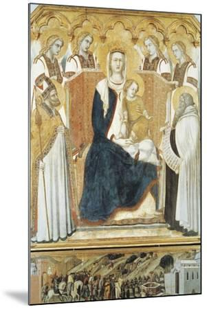 Italy, Siena, Madonna with Angels and Saints--Mounted Giclee Print