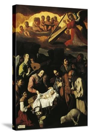 Adoration of Shepherds, 1638--Stretched Canvas Print