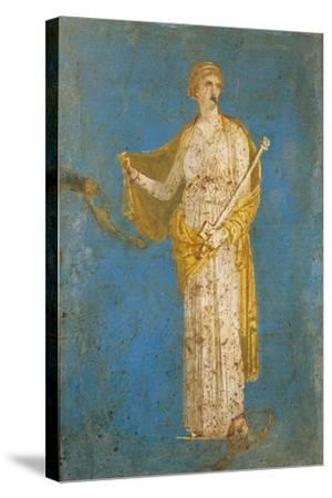Fresco Portraying Medea, from Stabiae, Italy--Stretched Canvas Print