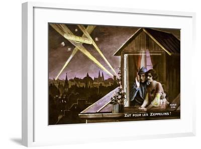 Damn the Zeppelins!, 1915--Framed Giclee Print