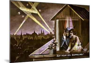 Damn the Zeppelins!, 1915--Mounted Giclee Print