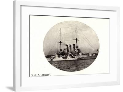 Kriegsschiffe, S.M.S. Hesssen Auf See--Framed Giclee Print