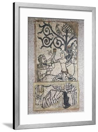 Mosaic from Destroyed Santa Maria Maggiore Basillica in Vercelli, Italy 11th-12th Century--Framed Giclee Print