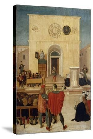 Sermon of St. John of Capistrano in City of L 'Aquila--Stretched Canvas Print