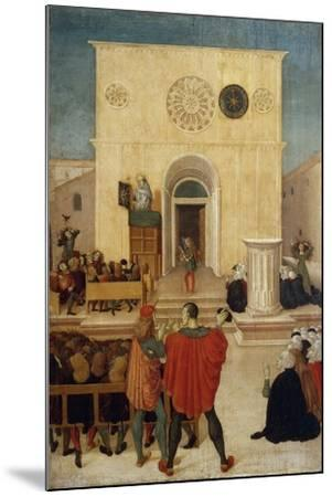 Sermon of St. John of Capistrano in City of L 'Aquila--Mounted Giclee Print