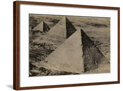 The Pyramids of Giza, Egypt--Framed Photographic Print