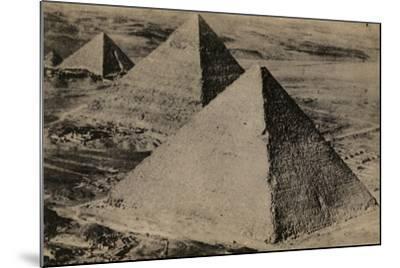 The Pyramids of Giza, Egypt--Mounted Photographic Print