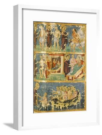 Miracles of Jesus, Miniature from Homilies by Saint Gregory, Manuscript, 9th Century--Framed Giclee Print