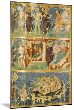 Miracles of Jesus, Miniature from Homilies by Saint Gregory, Manuscript, 9th Century--Mounted Giclee Print