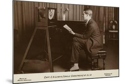 Actor Captain C a Lewis Who Played Uncle Caractacus in Children's Hour at a Recording--Mounted Photographic Print