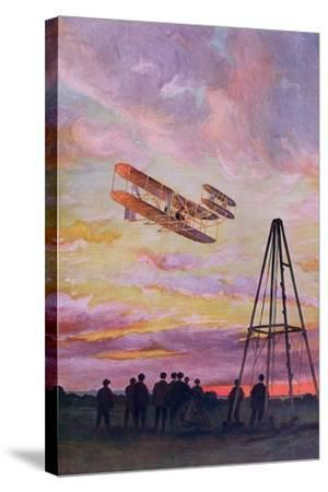 Wilbur Wright--Stretched Canvas Print