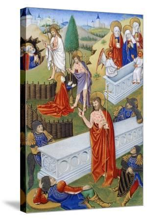 The Resurrection, Miniature from Book of Prayers by Jeanne De Laval, Manuscript--Stretched Canvas Print