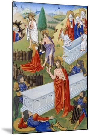 The Resurrection, Miniature from Book of Prayers by Jeanne De Laval, Manuscript--Mounted Giclee Print
