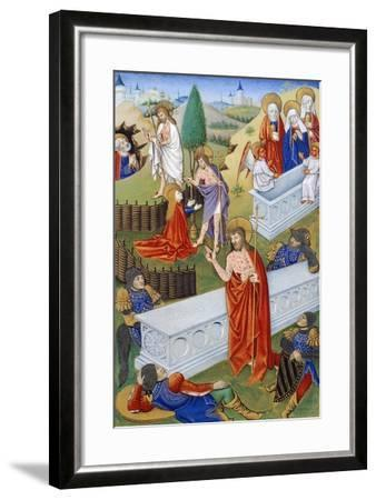 The Resurrection, Miniature from Book of Prayers by Jeanne De Laval, Manuscript--Framed Giclee Print